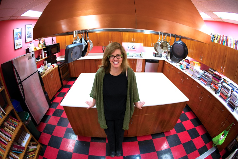 Jennifer Bain standing in her kitchen