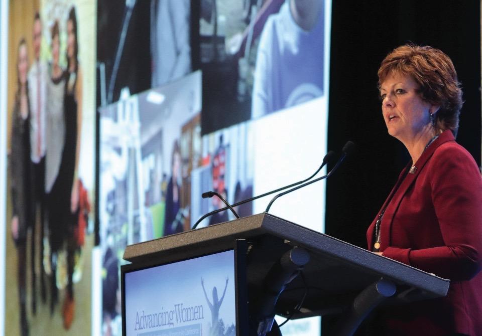 At conferences, speakers like Saskatchewan's deputy minister of ag Alanna Koch chart a path for women's progress.