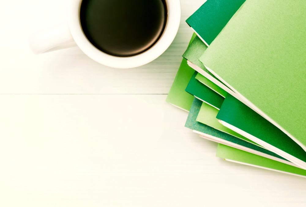 Files and Coffee cup