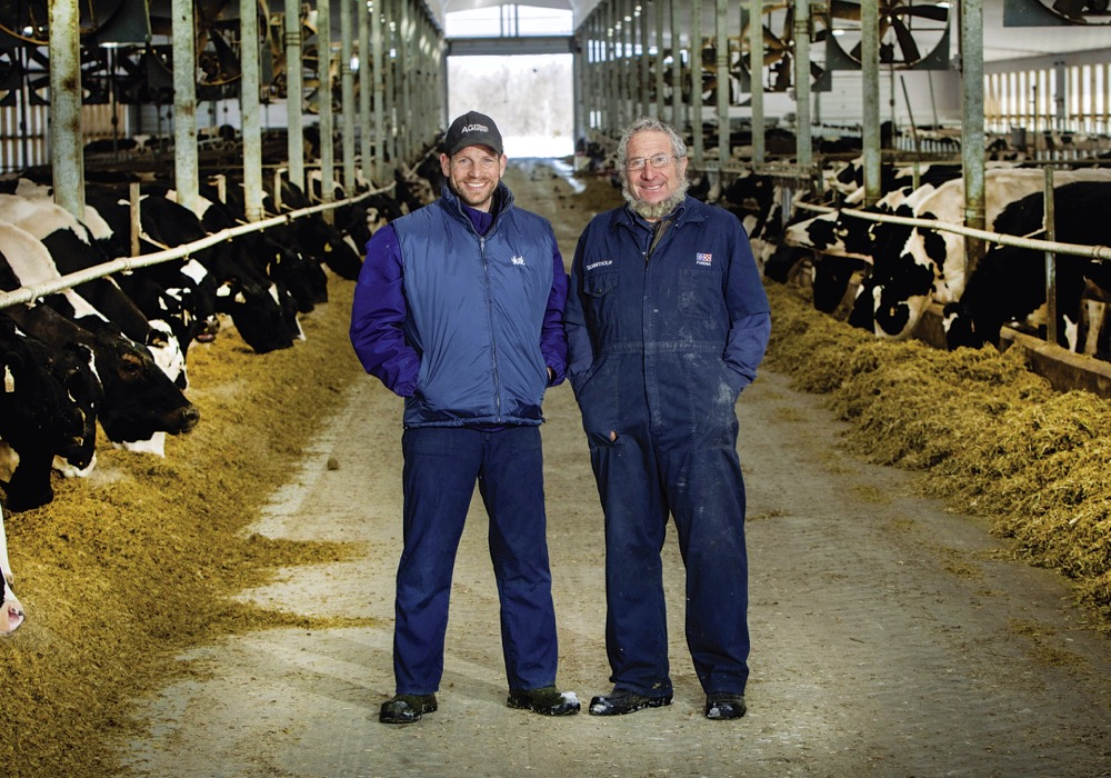 What's turning heads is that the Loewith farm, including Ben and Dave above, are known Canada-wide for their excellence in the barn.