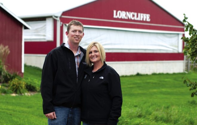 """It was the best decision — having two separate businesses instead of sharing one,"" says Steve, with Amanda on their farm, just down the road from the family operation."