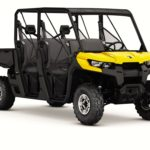 Two new Can Am Defender Max models offer a rear bench seat, boosting capacity to up to six adults.