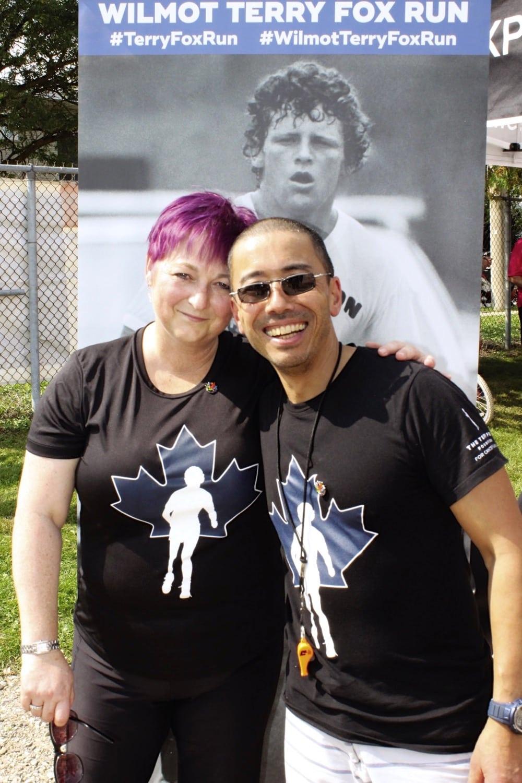 Cheryl and Nigel Gordijk, organizers of the Wilmot Terry Fox Run.