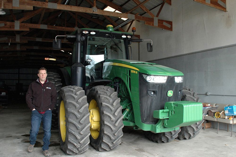 Illinois grain farmer Lucas Strom, shown here April 10 in unincorporated Kane County just west of Chicago, had planned to purchase a grain bin but changed his mind when the price increased after the announcement of steel tariffs by the Trump administration last month. (Photo: Reuters/P.J. Huffstutter)