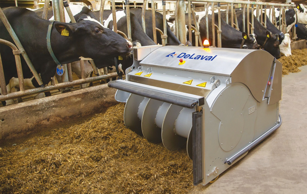 DeLaval's OptiDuo Robotic Feed Refresher.