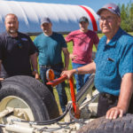 Auger-steer invention drives farm family