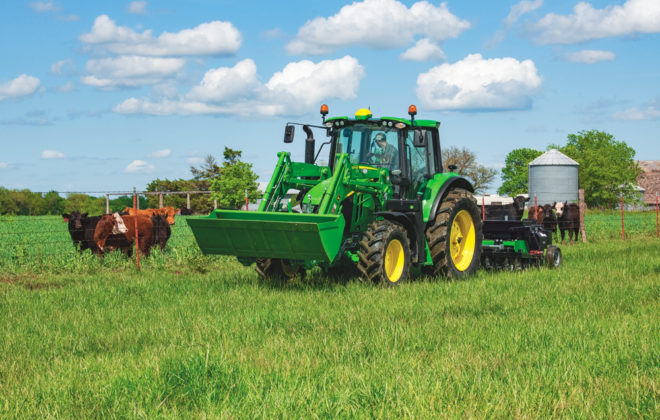 John Deere has added two new completely redesigned tractors to the mid-spec 6M line, the 6110M and 6120M.