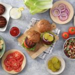 U.S. grocer Kroger's plant-based burger patties are sold under its in-house brand, Simple Truth. (Kroger photo via Brandfolder.com)