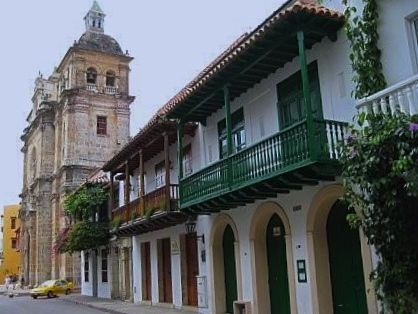 Cartagena's colonial walled section and fortress are a UNESCO World Heritage site in Colombia. (CIA.gov)