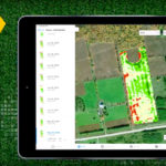 Climate FieldView image maps show biomass levels that indicate a healthy crop, or areas that might not warrant further investment.