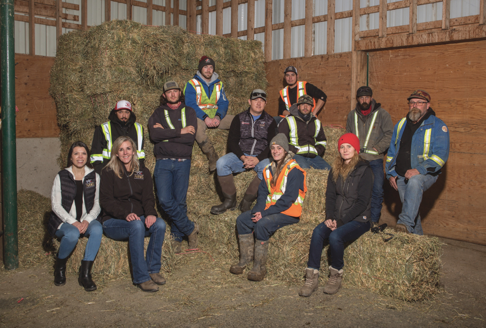 VRP Farms Ltd. is proud of its farm team made up of people hired both locally and internationally. Staff pictured here, who represent a range of jobs on the farm, come from Canada as well as Mexico, France and the U.K.