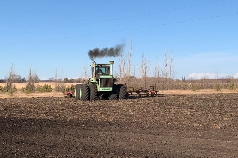 Thanks to Jim Lundgren, who farms at Glenora, Man., about 85 km west of Morden, for this photo of his early start to spring tillage on March 20, 2021, owing to the recent absence of snow and/or rain in the area. Not that it's a race, but is spring fieldwork already underway where you are? If yes, feel free to snap a photo and email us at daveb@fbcpublishing.com. (Photo courtesy Jim Lundgren)