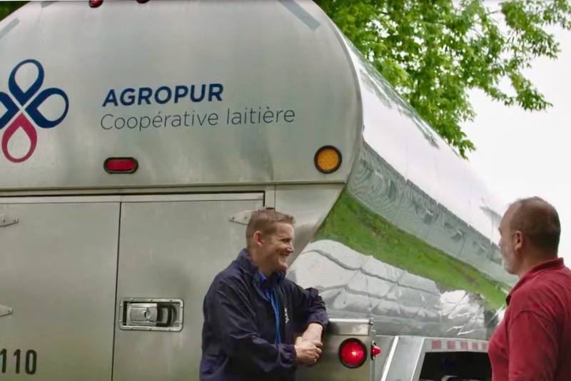 Screengrab from a 2019 video profiling a day in the life of an Agropur bulk milk grader. (Agropur Cooperative via YouTube)
