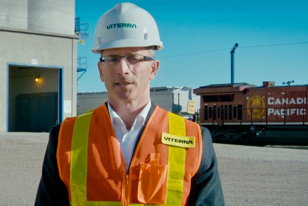 Kyle Jeworski, Viterra's CEO for North America, speaks in a December 2020 promotional video announcing the company's worldwide rebranding. (Viterra video screengrab via YouTube)